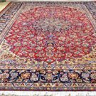 9'8 x 13'9 Beautiful Genuine Semi Antique Persian Isfahan Hand Knotted Wool Rug