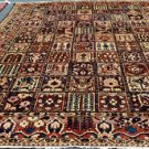 9x11 Gorgeous Rare Find Genuine Antique Persian Bakhtiar Keshti Hand Knotted Rug