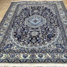 5x8'8 Fine High KPSI Silk Highlights Genuine Persian Nain Hand Knotted Wool Rug