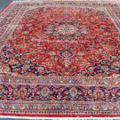 9'9x12'10 Elegant Genuine Semi Antique Persian Kashan Hand Knotted Oriental Rug