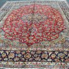 9'5x13'8 Beautiful Genuine S Antique Persian Isfahan Najafabad Hand Knotted Rug
