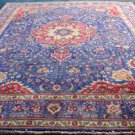 9'10x13 Superb Blue Fine Mint Genuine Persian Tabriz Hand Knotted Wool Area Rug
