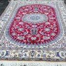 6'5x10 High KPSI Fine Genuine Persian Nain Hand Knotted Silk Highlights Wool Rug