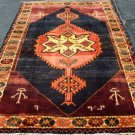 5 x 7 Signed Dated Genuine S Antique Persian Tribal Bijar Hand Knotted Wool Rug