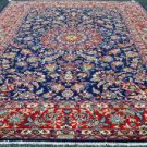 8'5 x 11'10 Signed Very Fine Mint Top Quality Authentic Persian Isfahan Wool Rug