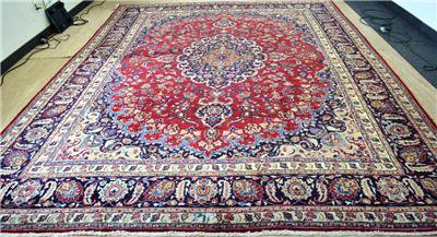 9 8 X 12 8 Genuine S Antique Persian Kashmar Hand Knotted