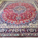 9'8 x 12'8 Genuine S Antique Persian Kashmar Hand Knotted Oriental Wool Area Rug