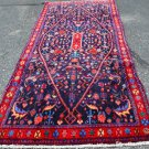 4 x 9 High Quality Genuine Persian Mahajeran Sarouk Fine Weave Hand Knotted Rug
