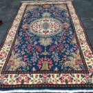 4'9 x 9'2 Beautiful Authentic Persian Kerman Oriental Hand Knotted Wool Area Rug