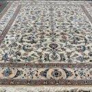 8'6x11 High KPSI Fine Genuine Persian Nain Hand Knotted Silk Highlights Wool Rug