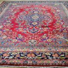"""9'4x12'6 Signed Weaved """"Made in Iran"""" Genuine S Antique Persian Kashmar Wool Rug"""