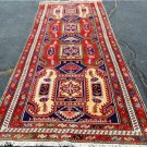4x10'6 Beuatiful Genuine S Antique Persian Tribal Hand Knotted Animal Runner Rug