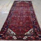 3'7 x 10'2 Genuine S Antique Persian Hamadan Herati Hand Knotted Wool Rug Runner