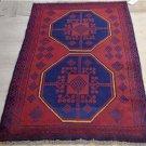 2'11 x 4'7 Pakistani Balouch Turkoman Tribal Hand Knotted Oriental Wool Area Rug