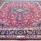 10x13 Fine Quality KPSI 200 Genuine Signed Persian Kashmar Hand Knotted Wool Rug