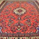 8'10x12 Genuine S Antique Persian Armenian Lilihan Vase Sarouk Handmade Wool Rug