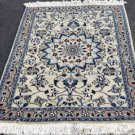 3 x 4'4 Fine High KPSI Genuine Persian Nain Oriental Hand Knotted Wool Area Rug