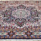 6'6 x 6'4 Square Gorgeous Authentic Persian Kerman Hand Knotted Wool Area Rug