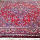 10x12'8 Fine Signed Genuine Semi Antique Persian Khorassan Hand Knotted Wool Rug