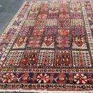 6'5 x 10 Genuine S Antique Persian Bakhtiari Keshti Tribal Hand Knotted Wool Rug