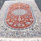 5'5 x 8'4 Stunning Genuine Persian Nain Silk Highlights Hand Knotted Wool Rug