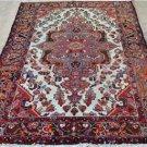 4'3x6'9 Genuine Semi Antique Persian Borchelu Tribal Hand Knotted Wool Area Rug