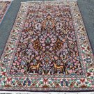4 x 7 Pictorial Animal Tree of Life Fine Genuine Persian Kerman Hand Knotted Rug