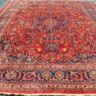 9'7 x 12'10 Mint Genuine S Antique Persian Mashad Sabzevar Hand Knotted Wool Rug
