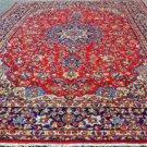9'7x13'7 Beautiful Genuine S Antique Persian Isfahan Najafabad Handmade Wool Rug
