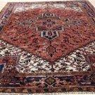 8 x 10 Fine Quality Rare Genuine S Antique Persian Heriz Serapi Hand Knotted Rug