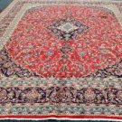 9'6 x 12'8 Elegant Genuine S Antique Persian Kashan Hand Knotted Wool Area Rug