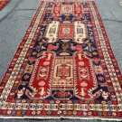 4 x 11 Amazing Genuine Nortwest Persian Tribal Pictorial Hand Knotted Runner Rug