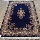 3 x 5 PAIR Fine Blue Genuine Persian Kerman Oriental Hand Knotted Wool Area Rugs