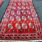 4 x 7'5 Abrushed Rare Genuine Semi Antique Persian Balouch Hand Knotted Wool Rug