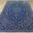 4'5x7'3 KPSI 200 Finest Blue Genuine Persian Isfahan Hand Knotted Kork Wool Rug