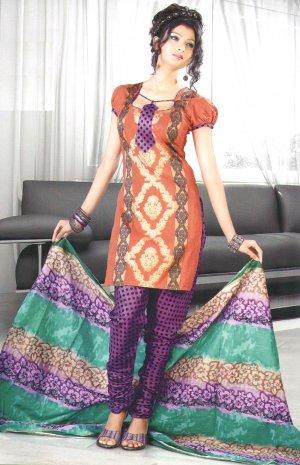 Shalwar & Salwar Kameez Dress Jacquard Satin Casual With Dupatta - X 08 N