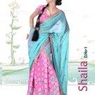 Partywear Crepe Jacquard Embroidery Lehenga Sari With Blouse - GW Shaila N