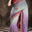 Bridal Crepe Traditional Embroidery Full Patli Sarees With Blouse - OD 18000 N