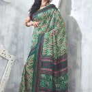 Sari Saree Raw Silk Casual Printed With Unstitch Blouse - VF 5223B N