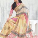 Sari Saree Raw Silk Casual Printed With Unstitch Blouse - VF 5213B N