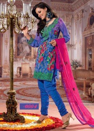 Faux Georgette Designer Embroidery Shalwar Salwar Kameez With Dupatta- CS 6004 N