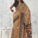 Sari Saree Raw Silk Casual Printed With Unstitch Blouse - VF 5216 N