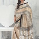 Sari Saree Raw Silk Casual Printed With Unstitch Blouse - VF 5213A N