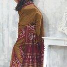 Sari Saree Raw Silk Casual Printed With Unstitch Blouse - VF 5226A N