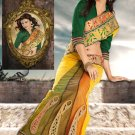 Bridal Net Traditional Embroidery Side Patli Sarees With Blouse - OD 18001 N