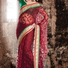 Bridal Net Silk Traditional Embroidery Full Patli Saree With Blouse - OD 18022 N