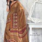 Sari Saree Raw Silk Casual Printed With Unstitch Blouse - VF 5218B N