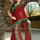 Bridal Jacquard Traditional Embroidery Side Patli Saree With Blouse- OD 18020 N