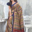 Sari Saree Raw Silk Casual Printed With Unstitch Blouse - VF 5219B N
