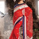 Bridal Georgette Traditional Embroidery Full Patli Saree With Blouse- OD 18018 N